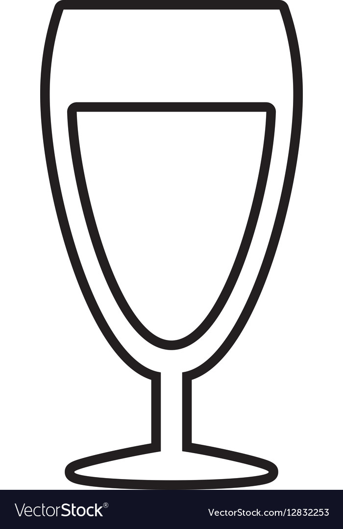 Glass cup champagne drink celebration outline
