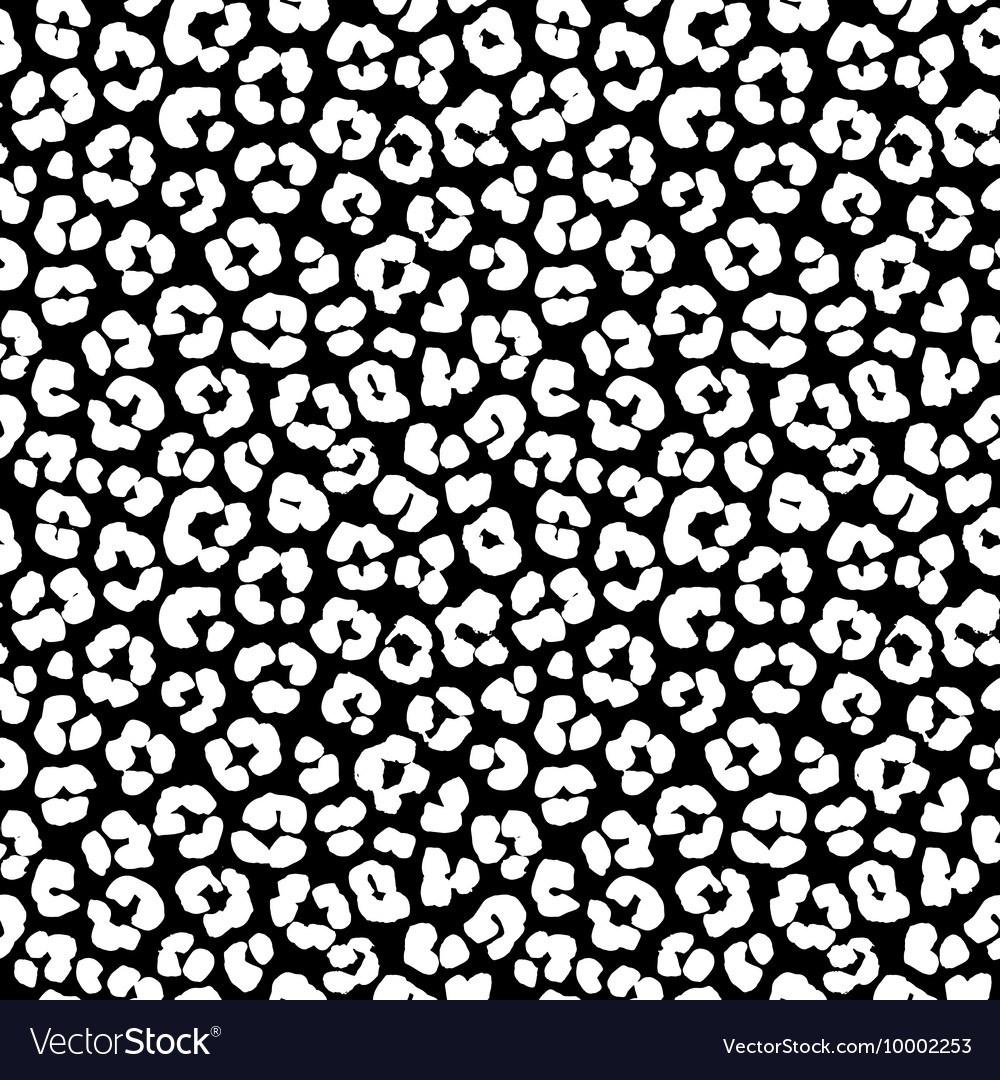 Leopard print seamless background pattern Black