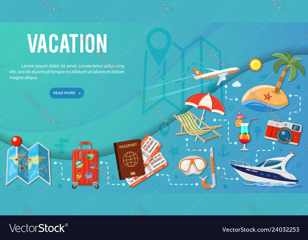 Vacation and tourism banner infographics
