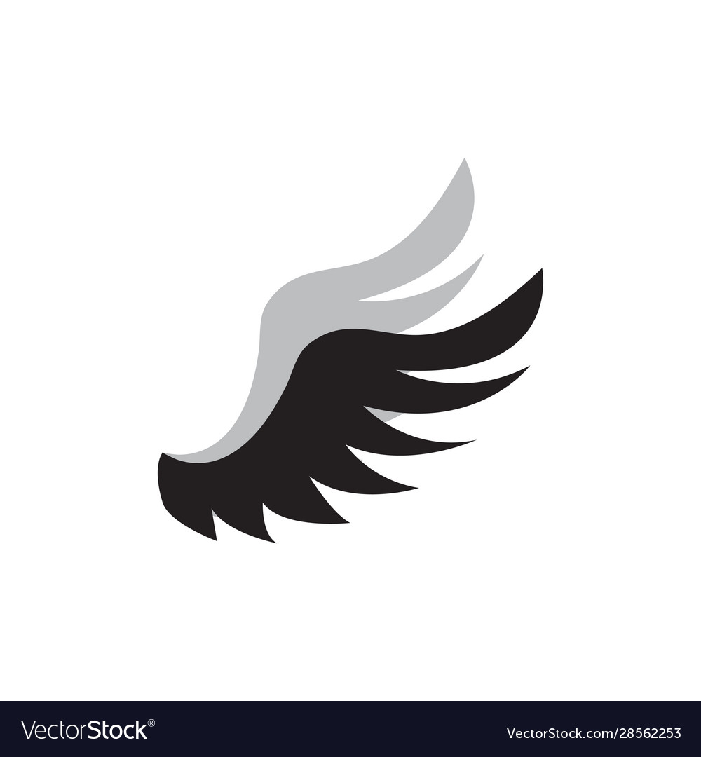 Wing icon design template isolated