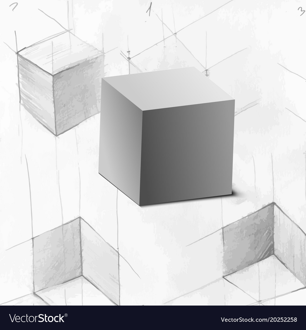 3d cube for your design