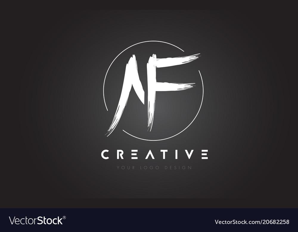 Af brush letter logo design artistic handwritten