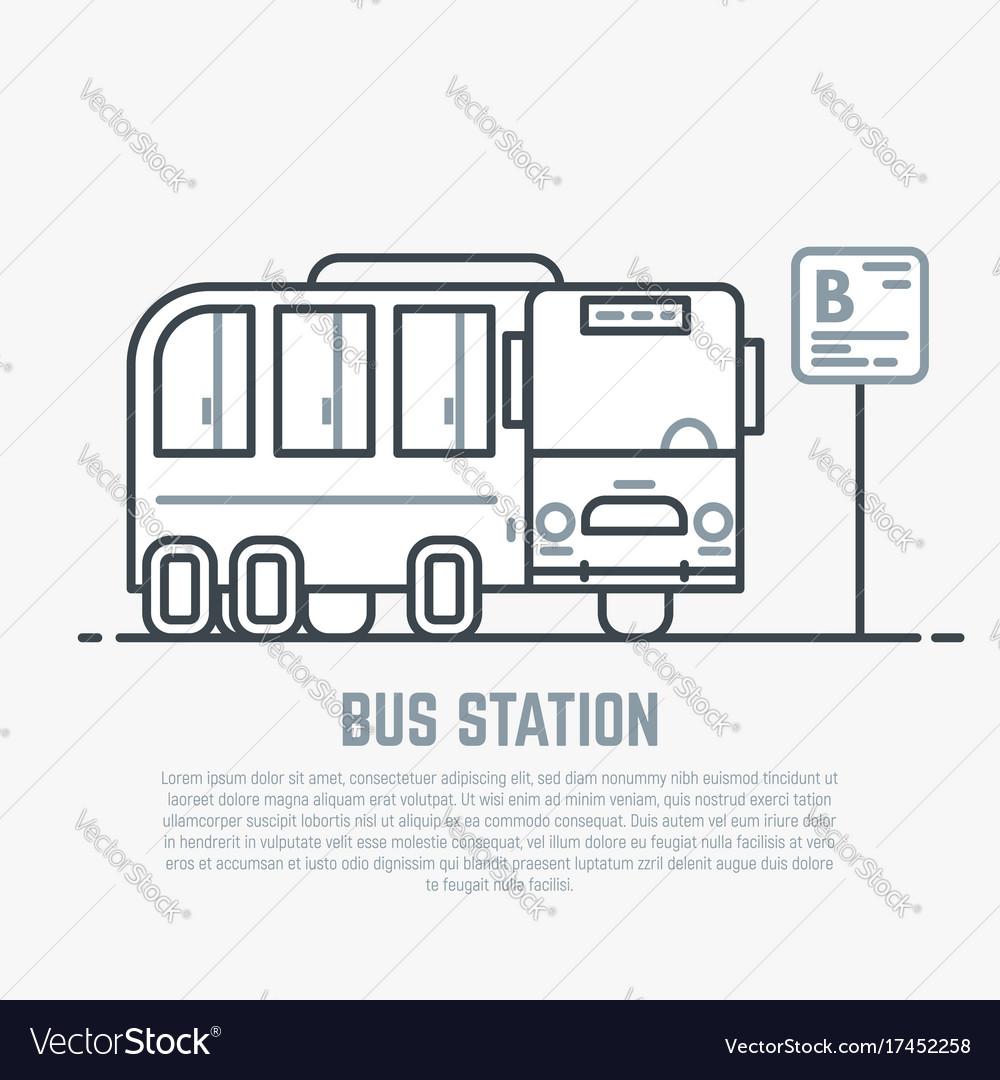 Bus station line
