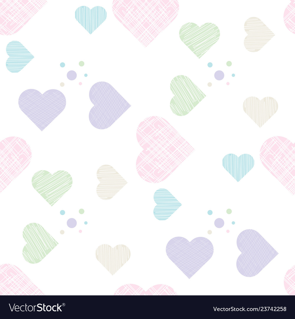 Delicate love print pastel seamless pattern with