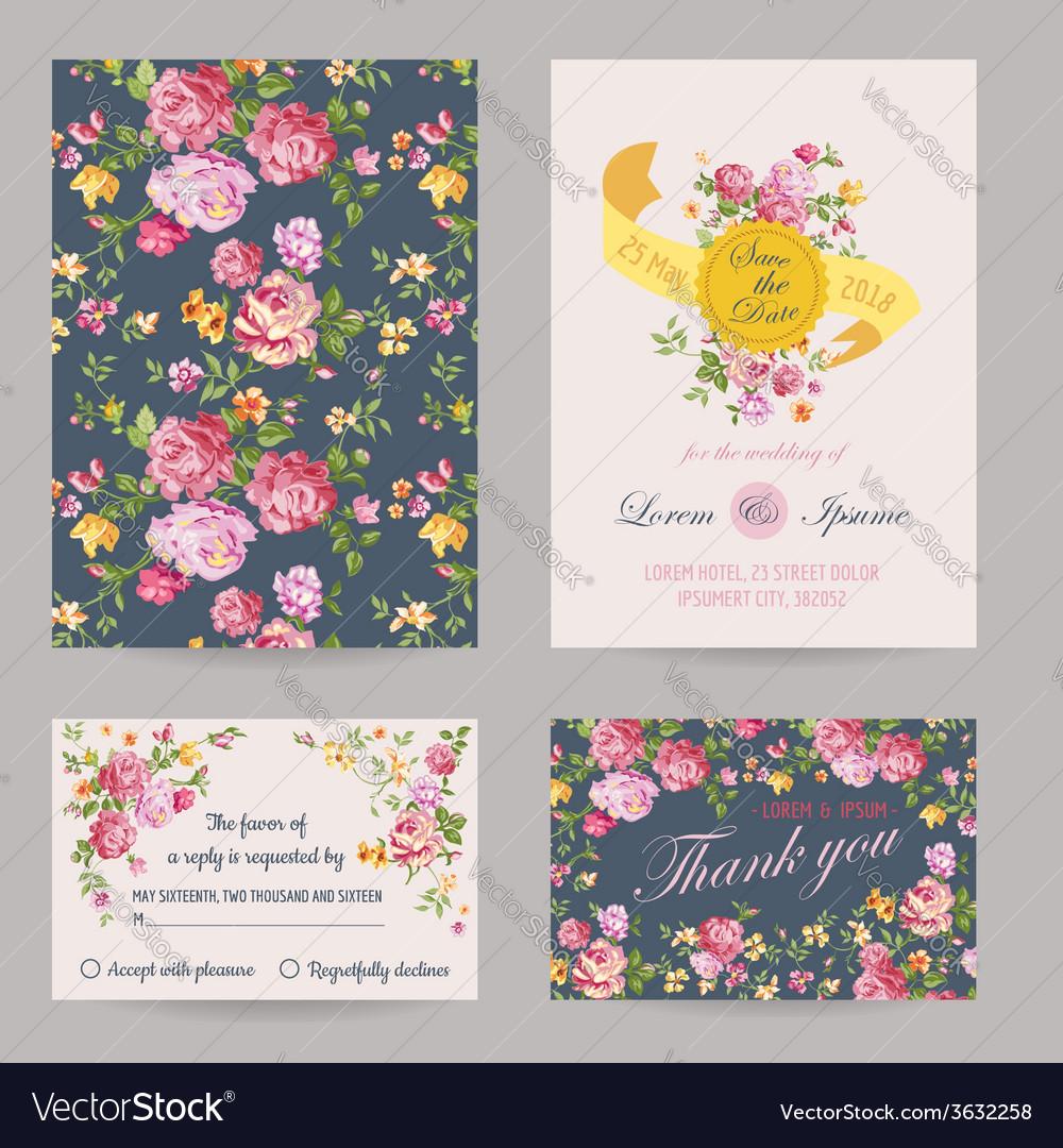 Invitation Congratulation Card Set