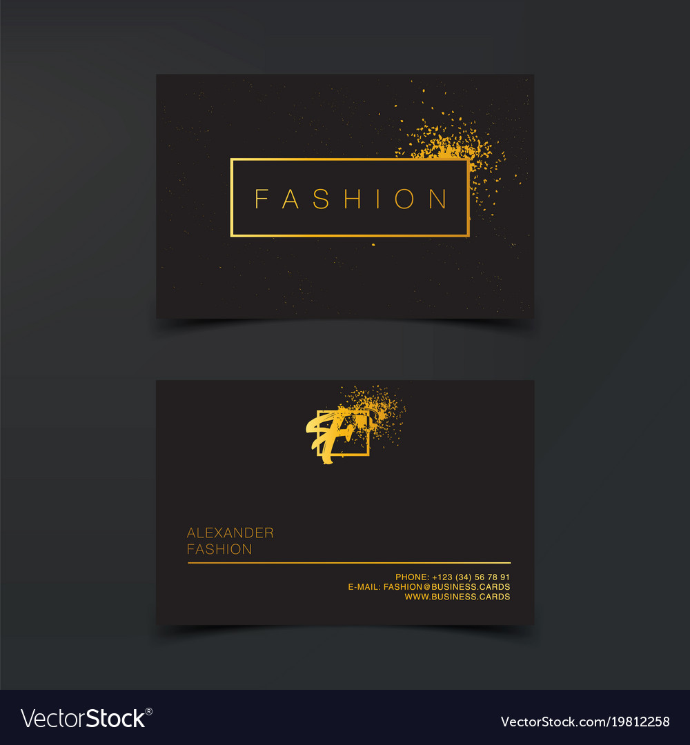 Luxury fashion business cards template royalty free vector luxury fashion business cards template vector image fbccfo Image collections