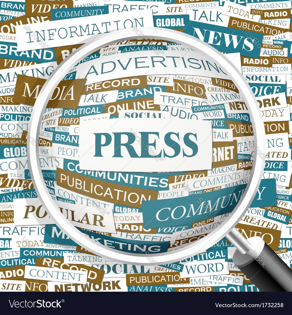 PRESS vector image