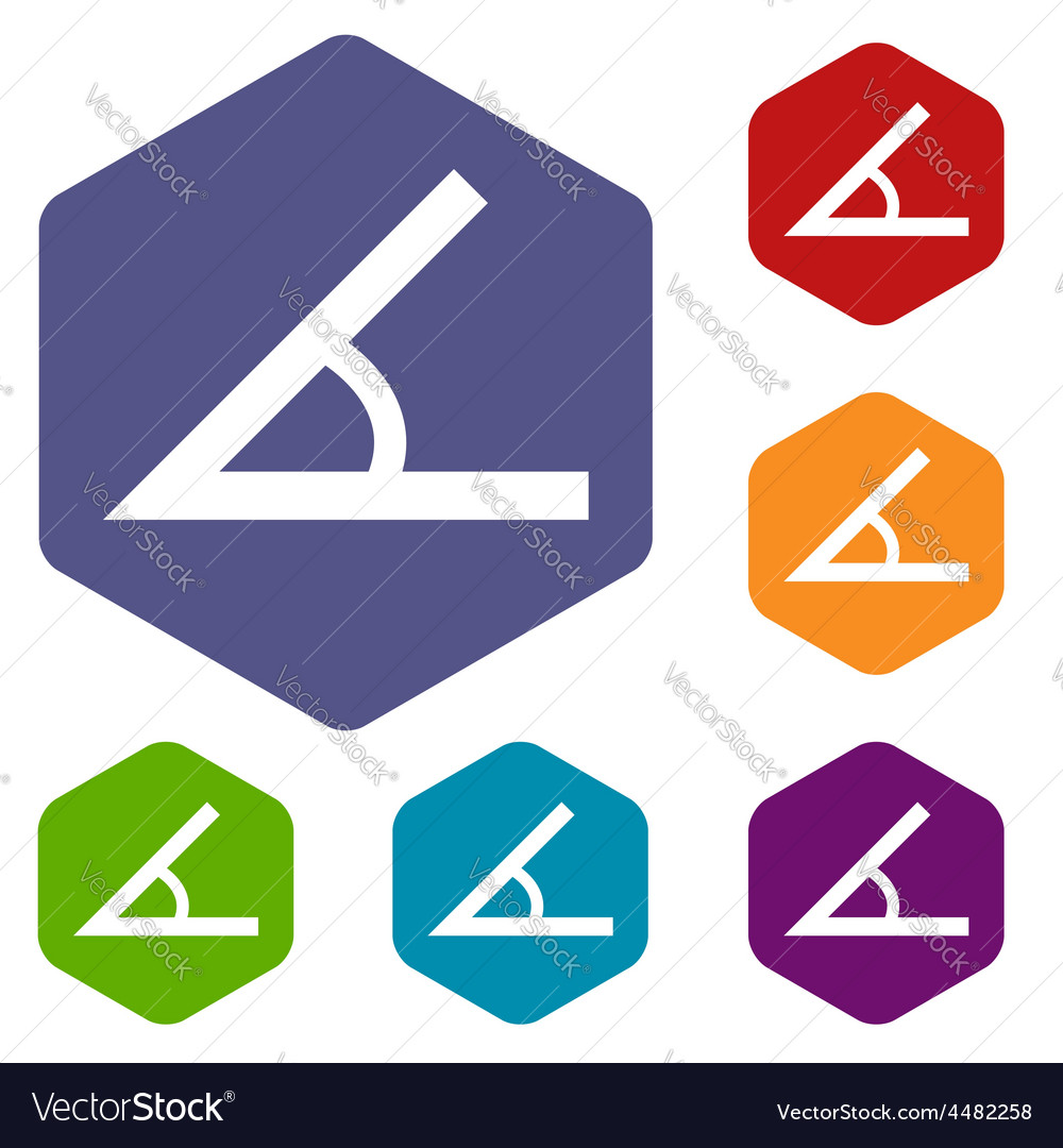 Sign of the angle rhombus icons vector image