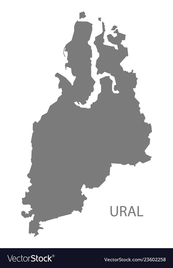 Picture of: Ural Russia Map Grey Royalty Free Vector Image