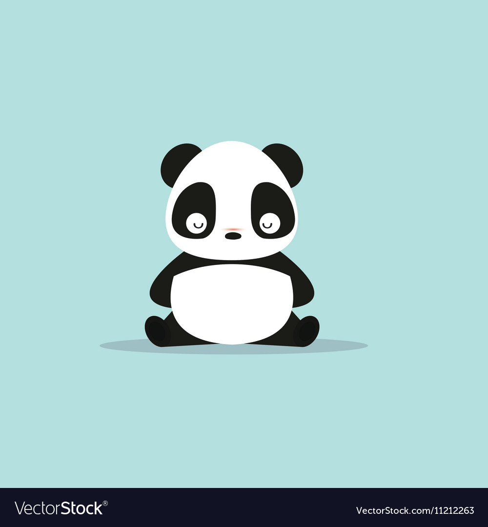 abstract cute panda royalty free vector image vectorstock