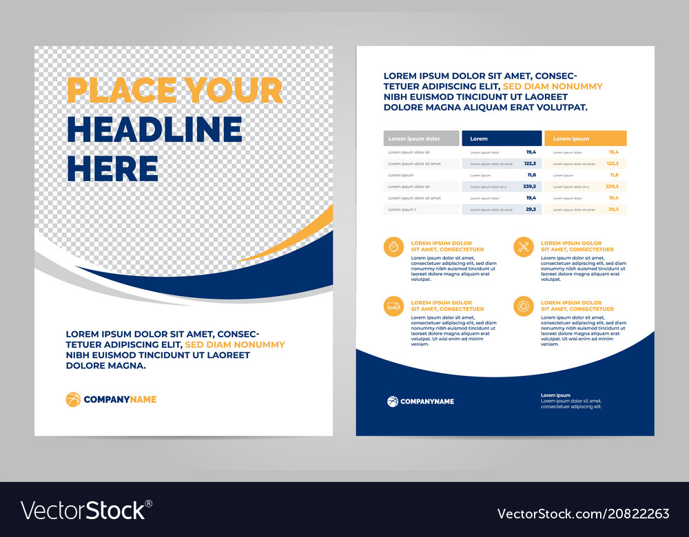 Brochure layout template design