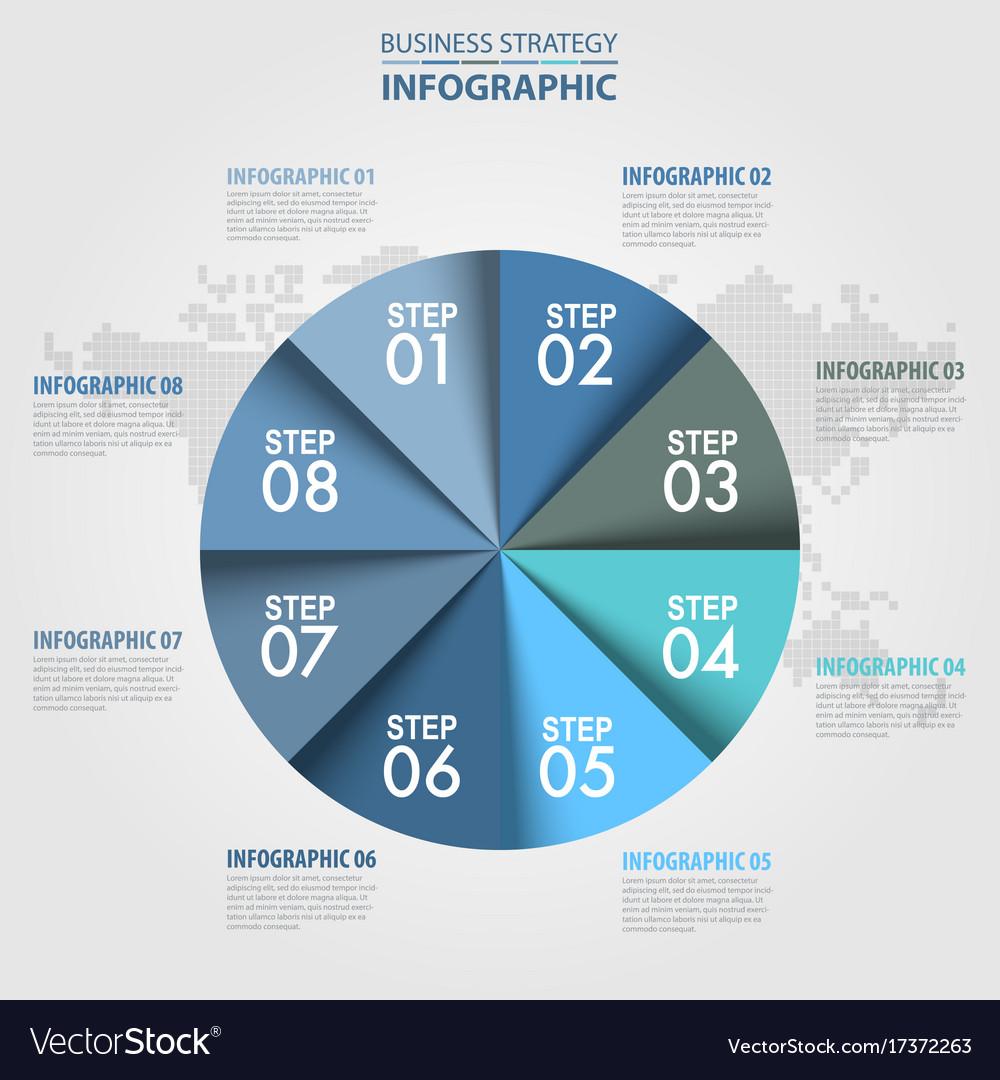 Business infographics circle chart design