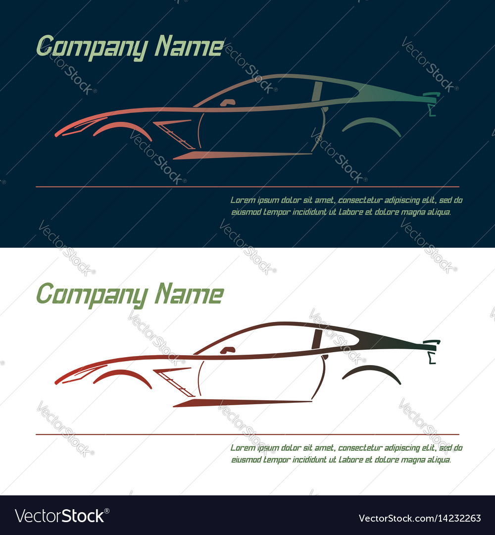 Company logo icon element template car