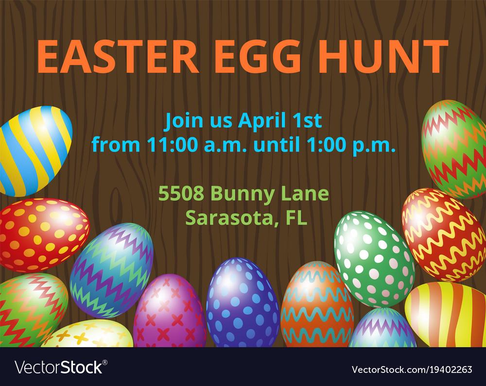 Easter hunt invitation card