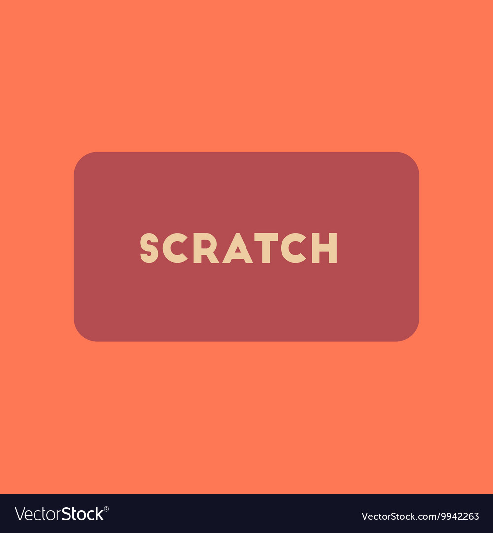 Flat icon on stylish background scratch card