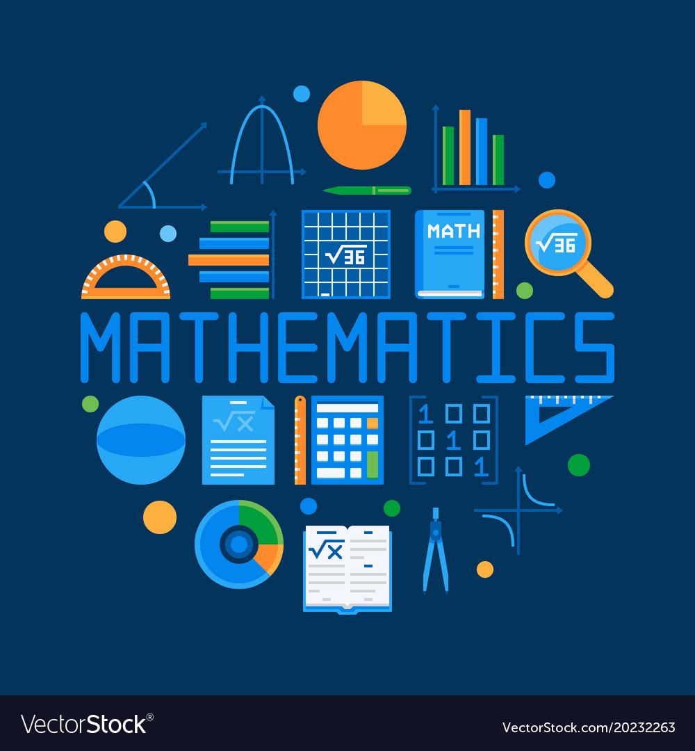 Mathematics circular flat Royalty Free Vector Image