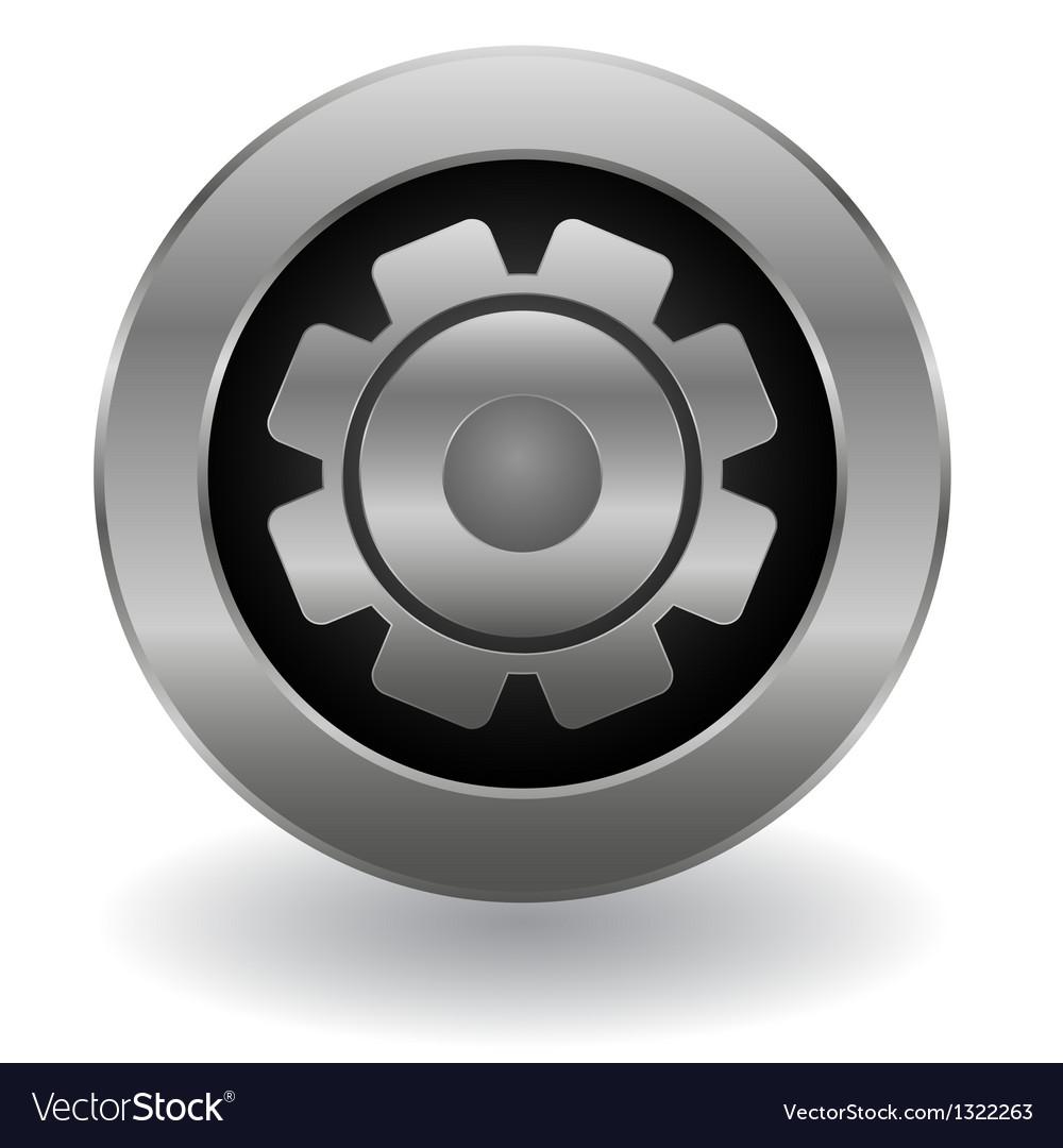 Metallic gear button