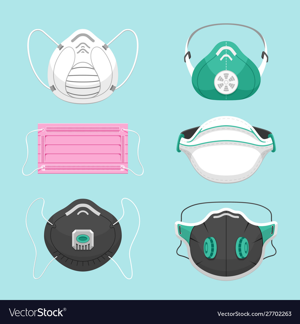 Protective medical masks flat