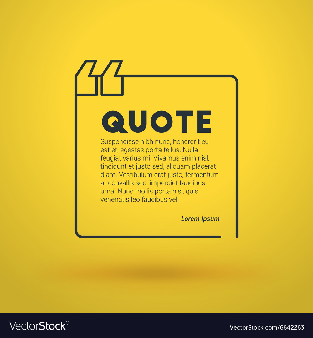 Quote Blank Design Template Typographic Background