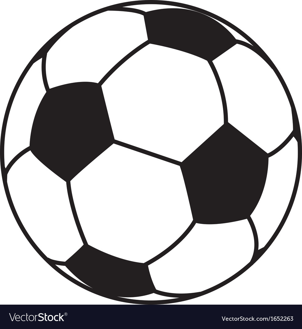 soccer ball royalty free vector image vectorstock rh vectorstock com soccer ball vector file soccer ball vector art free