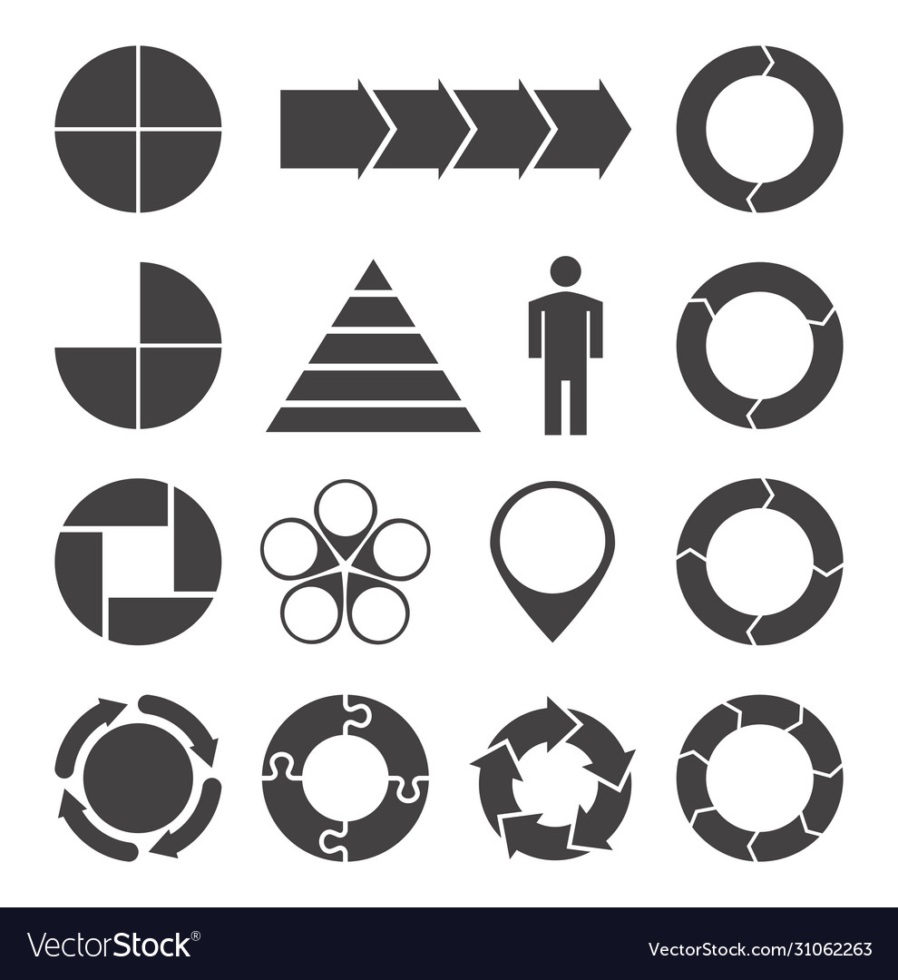 Variety infographics elements set