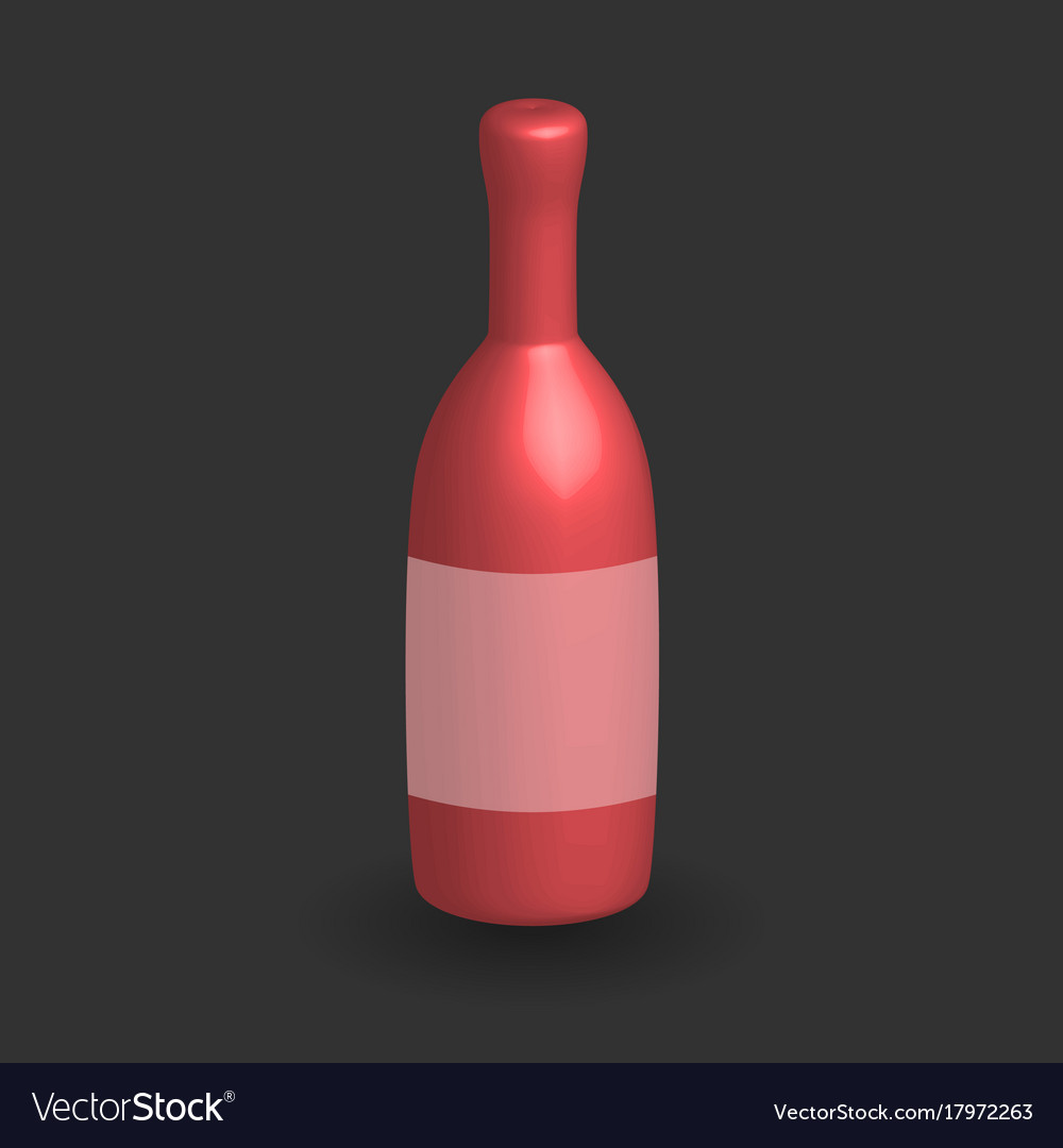 wine bottle template royalty free vector image