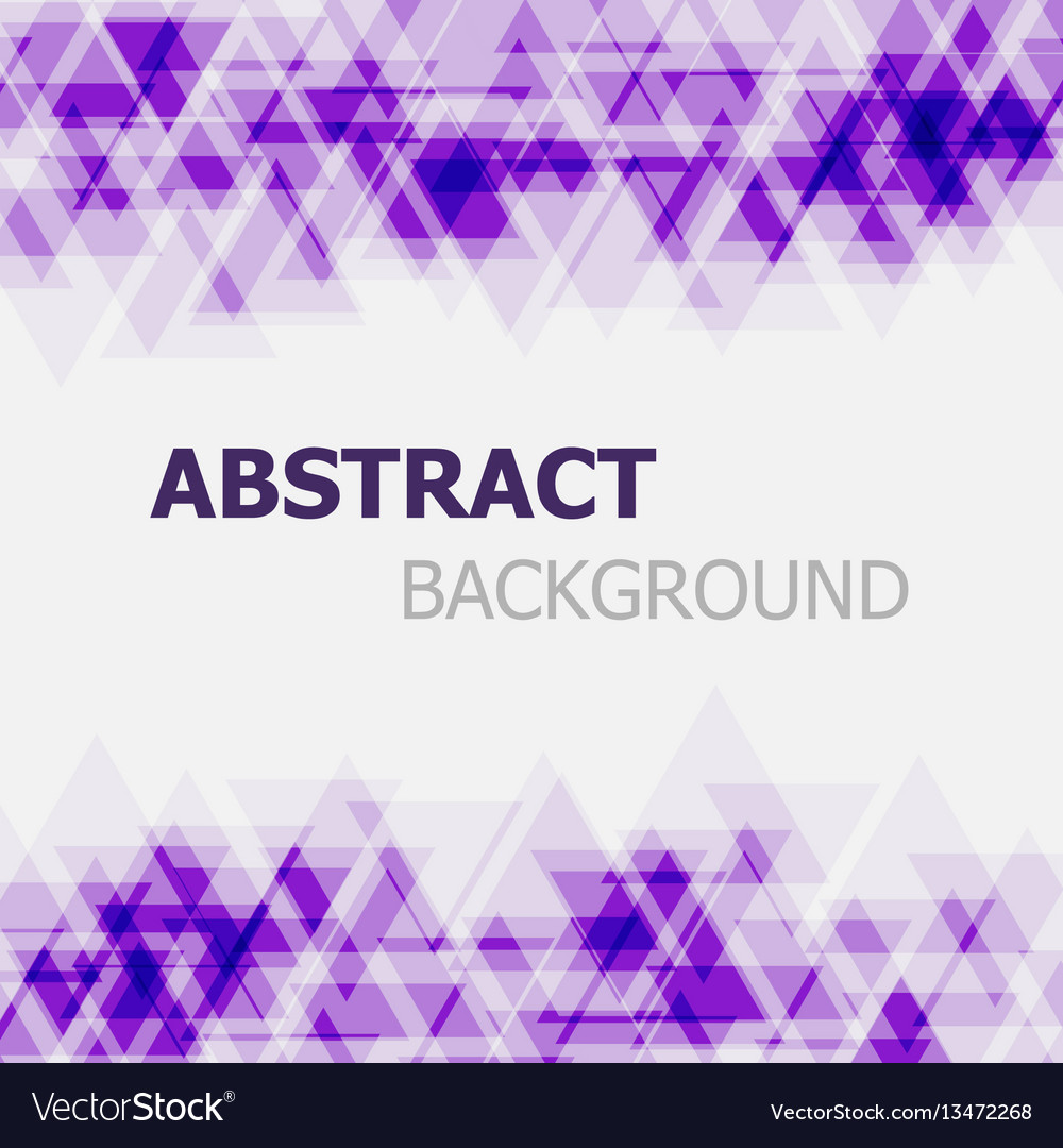 Abstract purple triangle overlapping background vector image