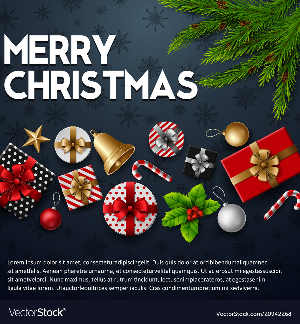 Christmas blue background with elements