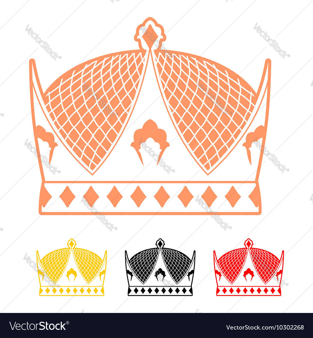 Crown flat style icon Headdress symbol of