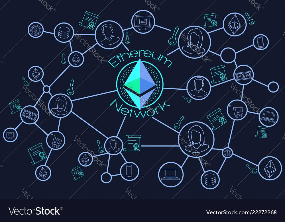 Ethereum network blockchain conceptual