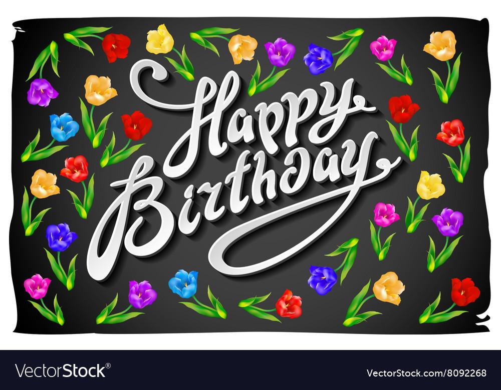 Happy birthday card Celebration background with