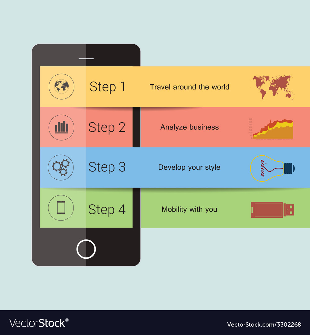 Mobile Infographic design