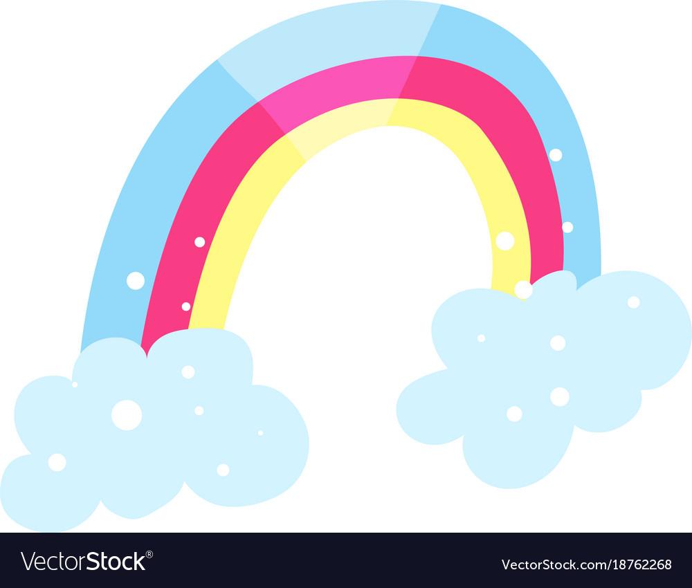 Rainbow and clouds cartoon