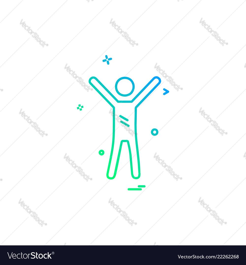 Sportsman icon design