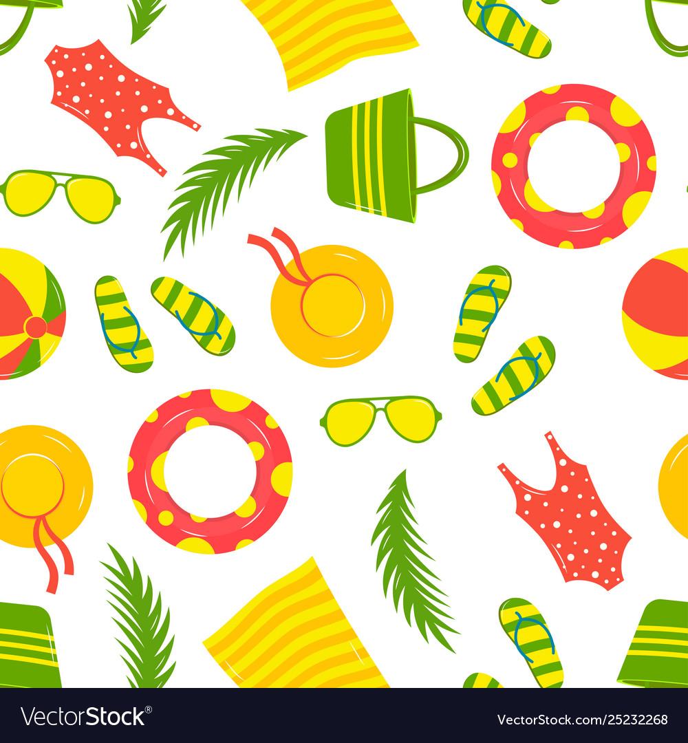 Vacation seamless beach pattern