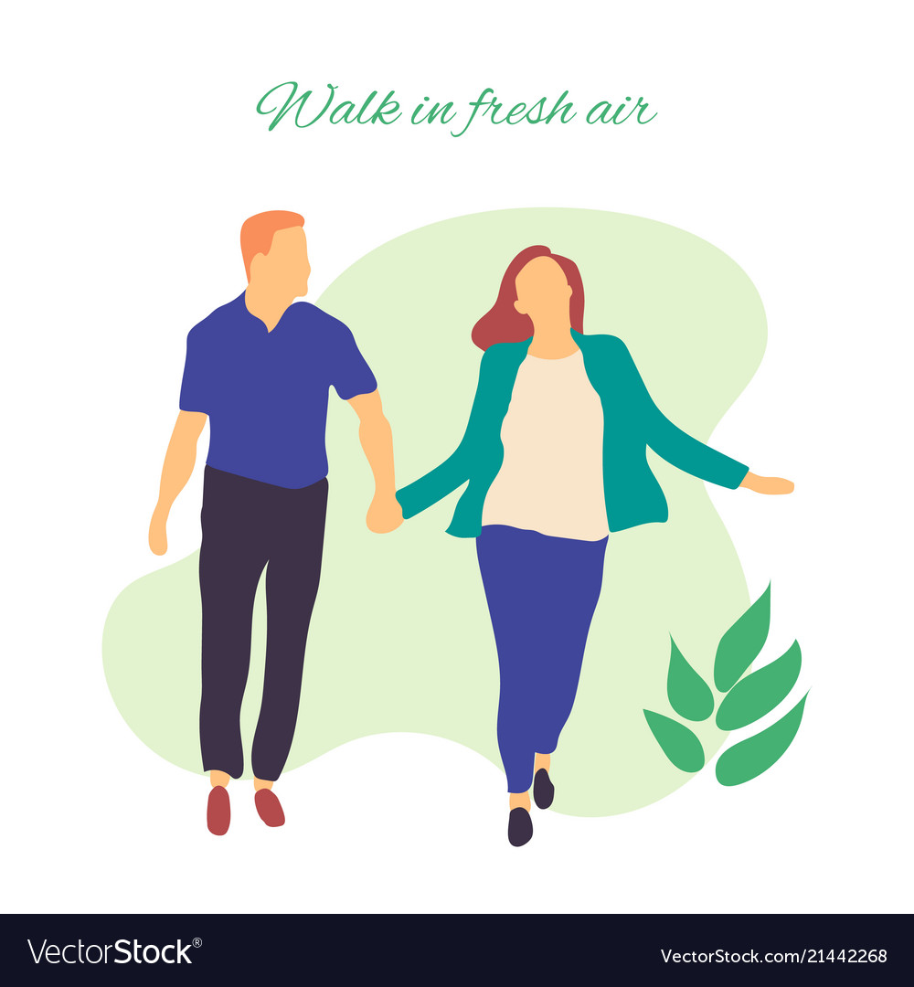 walk in fresh air stylized of royalty free vector image vectorstock