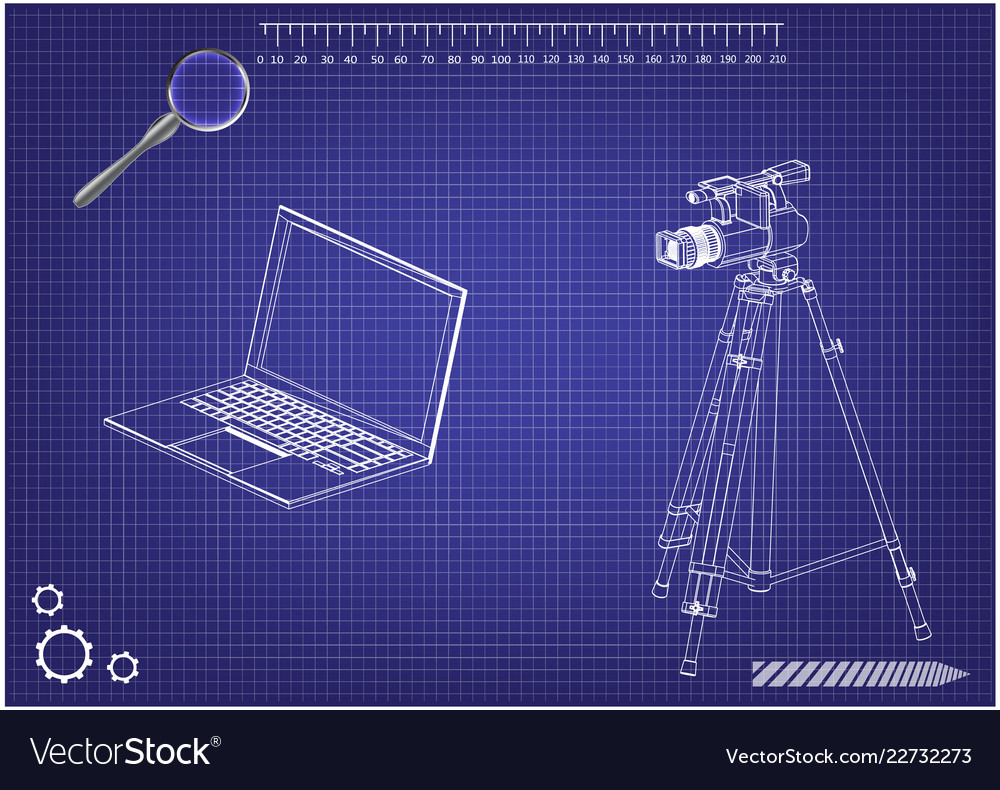 3d model of laptop and camcorder with a tripod vector image Dell E6410 Laptop Diagram