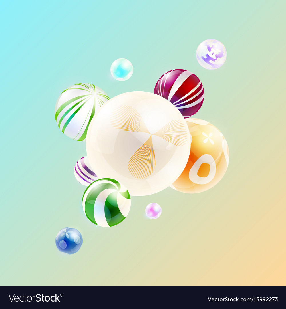 Abstract background with composition of spheres
