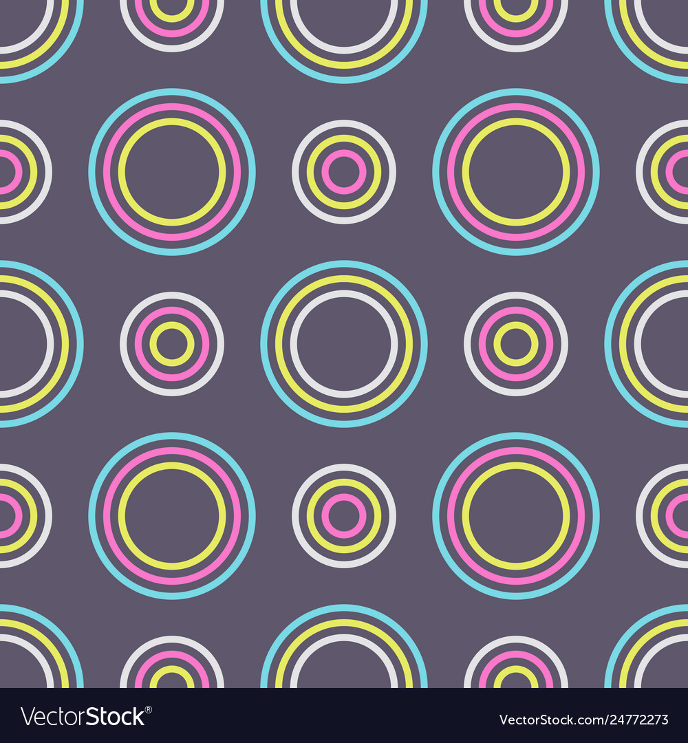 Abstract seamless pattern color circles