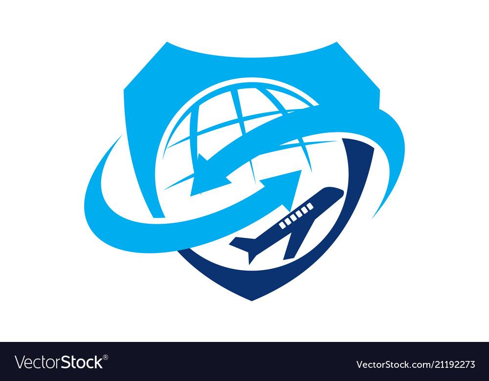 Airplane symbol logo design template