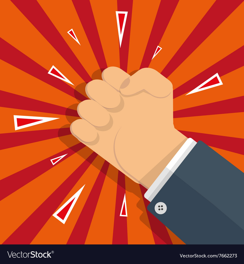 Fust protest symbol vector image