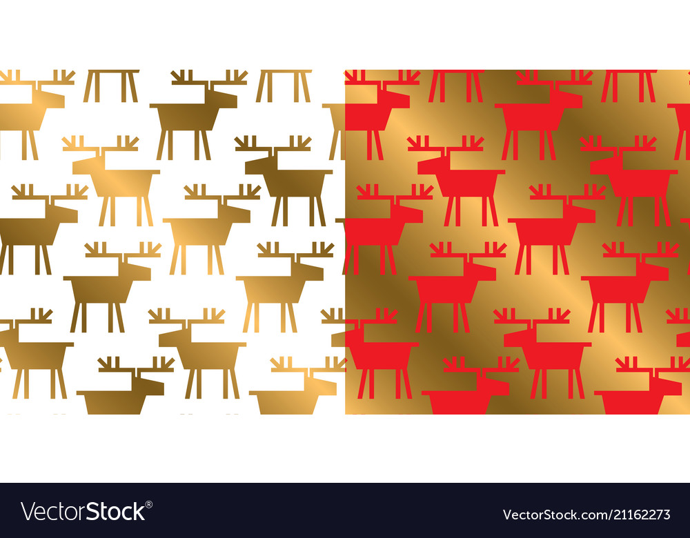 Geometric deer silhouette xmas repeatable pattern