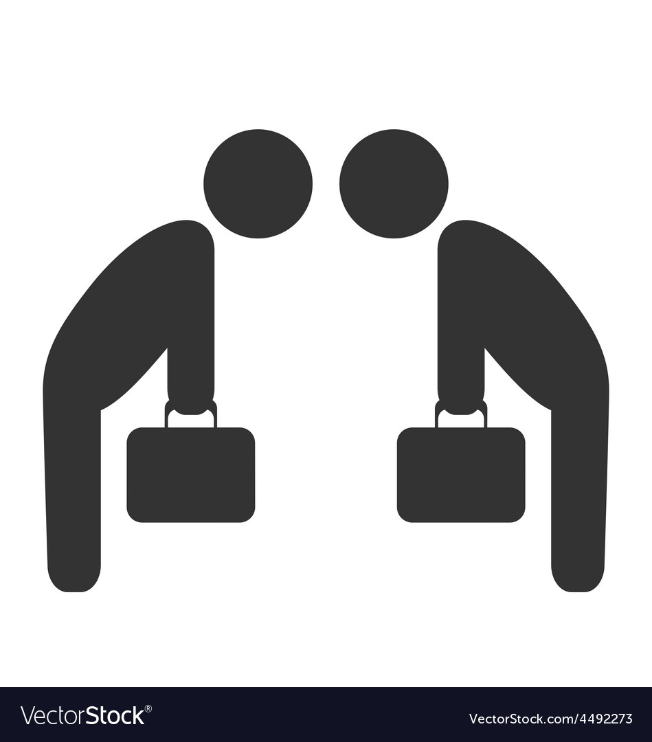 Greeting etiquette business situation icon vector image m4hsunfo