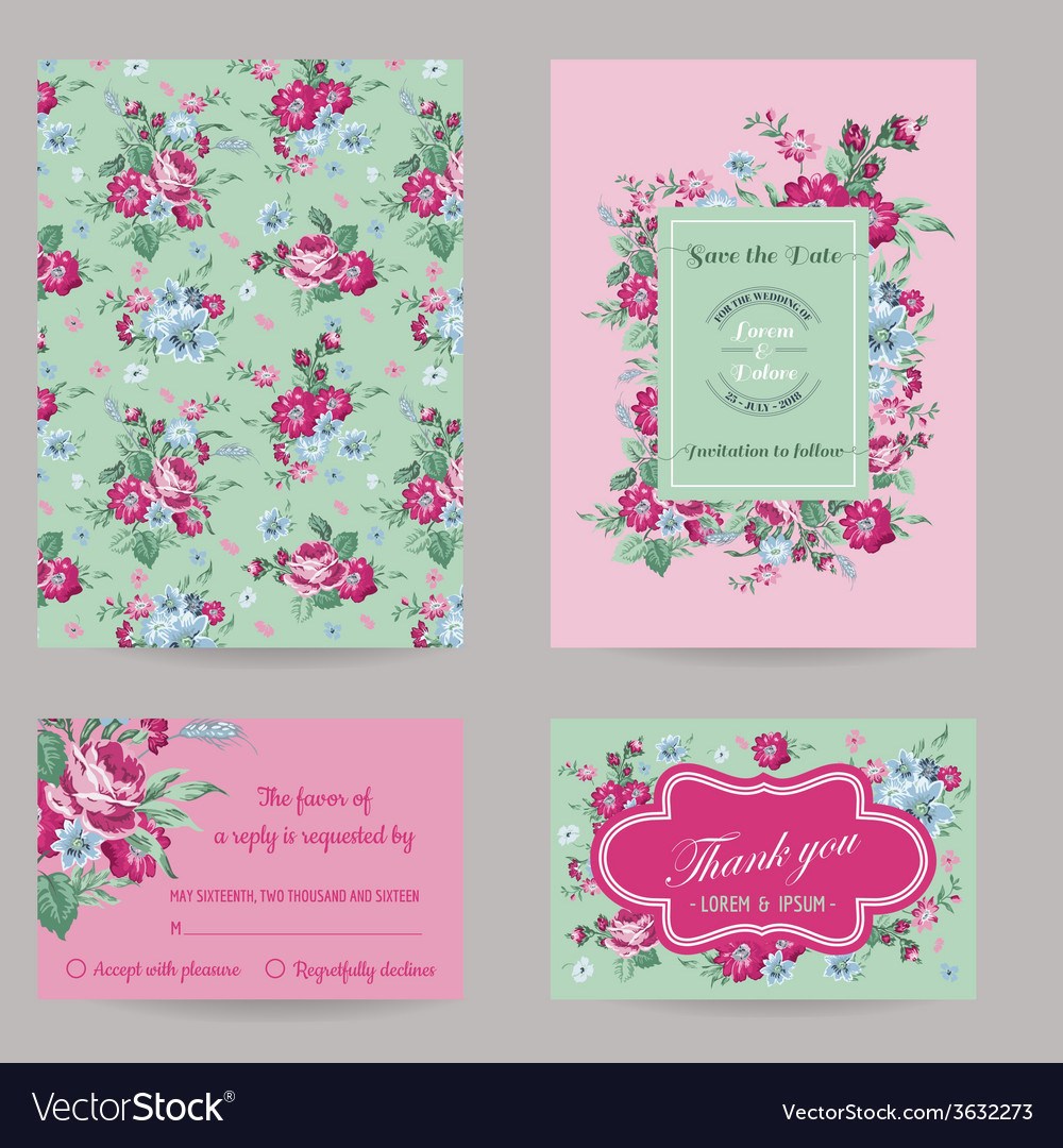 Invitation Congratulation Card Set