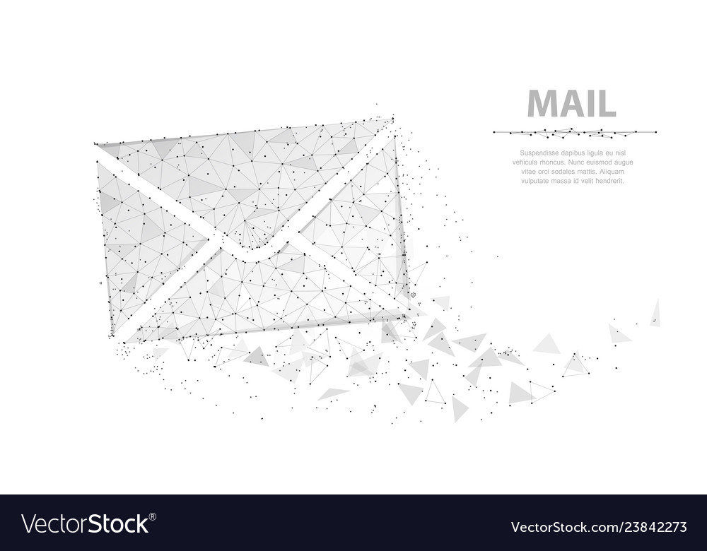 Message abstract envelope icon isolated on