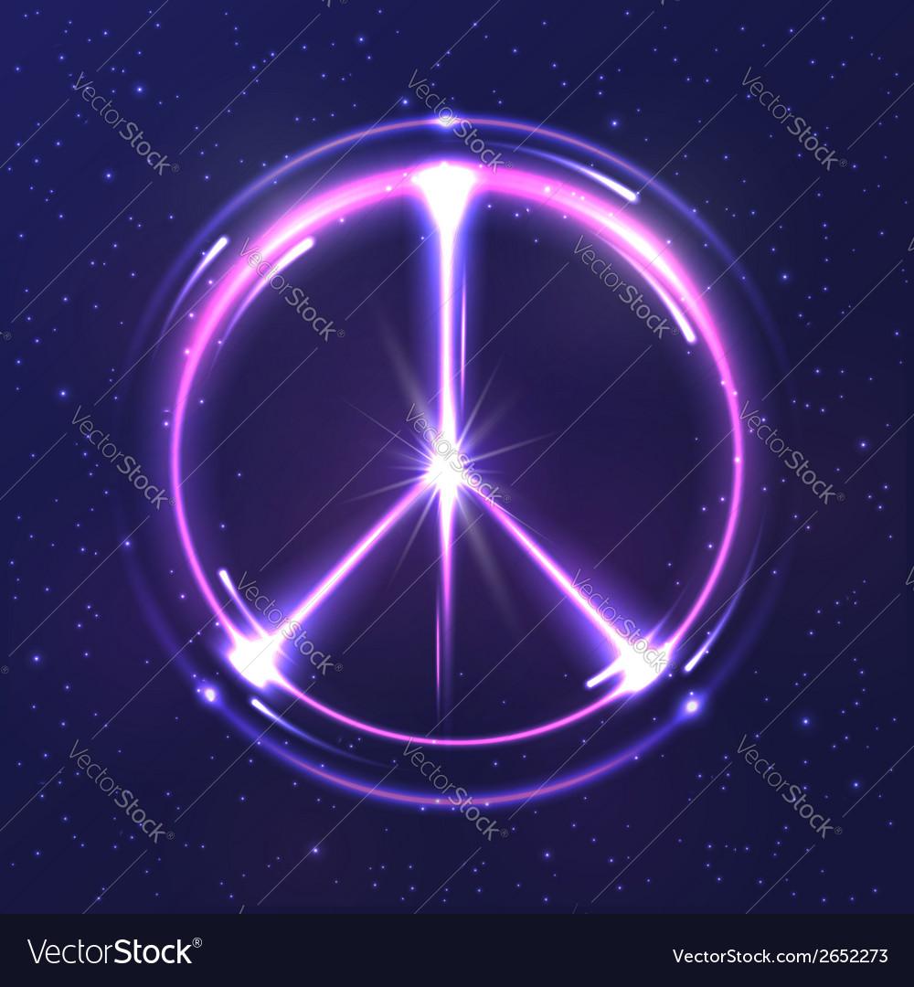 Neon light pacific symbol vector image