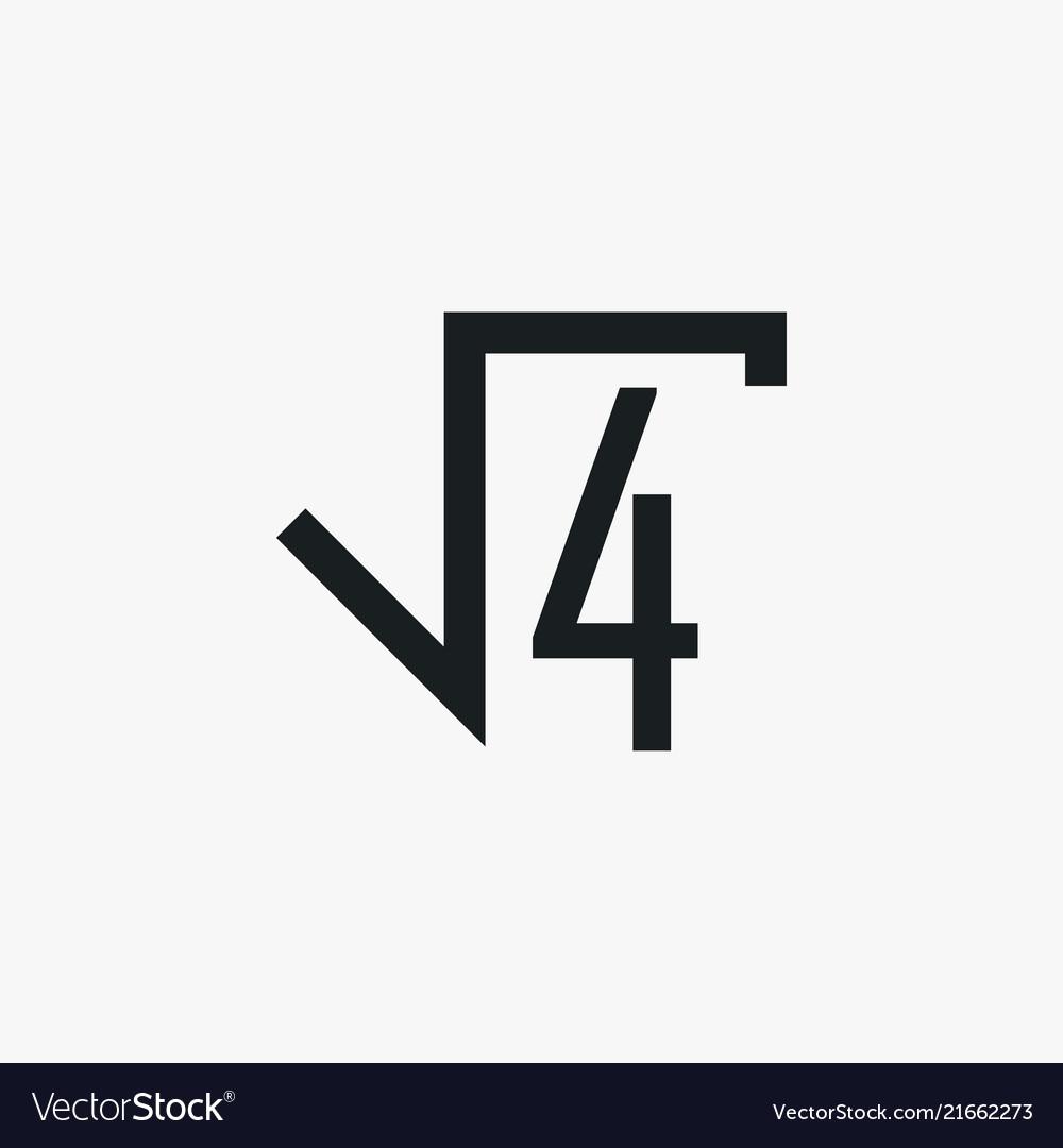 Square Root Icon Simple School Element Symbol Vector Image
