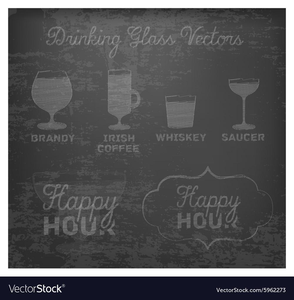 Typographical Drinks Design Elements