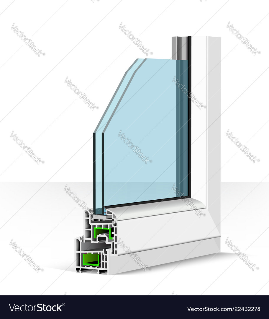 3d plastic window profile on