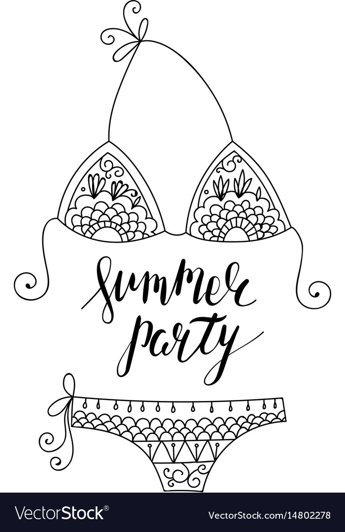 Adult coloring page flyer with lettering vector image